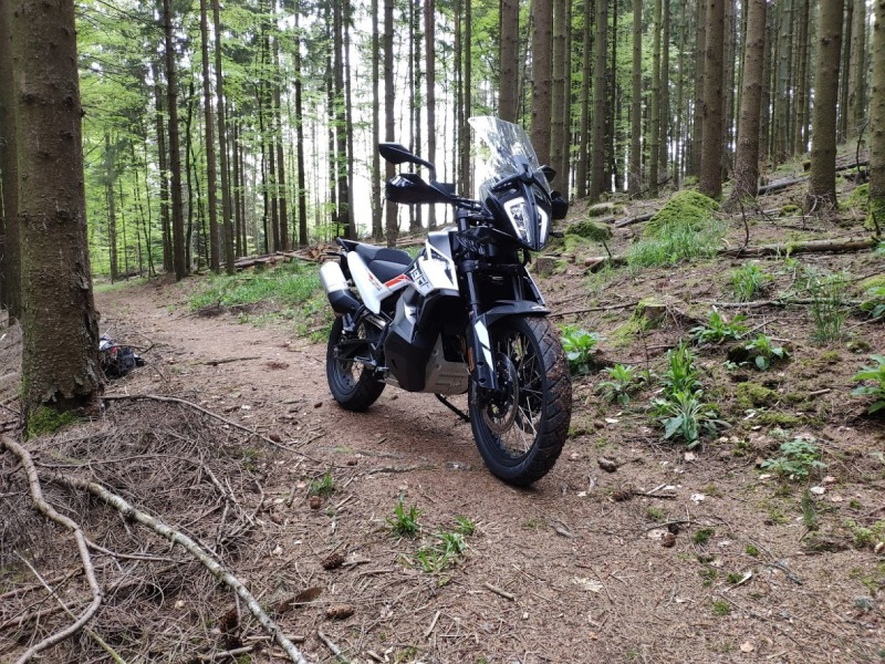 Photo KTM Adventure 790 off road chemin
